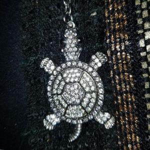 Accessories - Rhinestone turtle keyring